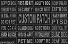 Velcro Patch Reflective Extra Label Tag for Dog Harness Service Therapy Police