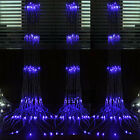 640 LED water flow waterfall decoration Lights String 6X3M free shipping