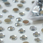 10mm/12mm Crystal clear round flat back rhinestone diamante gems/cardmaking