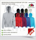 Fruit of the Loom Kapuzen Jacke Kapuzensweat Kapuzenjacke Hooded Zip SALE