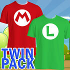 Super Mario Luigi Bros inspireds T Shirt Nintendo Costume fancy dress Mario Kart
