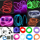 Kyпить Neon LED Light Glow EL Wire String Strip Rope Tube Decor Car Party + Controller на еВаy.соm