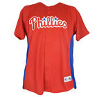 MLB Majestic Philadelphia Phillies Youth Boys Button Up Authentic Jersey