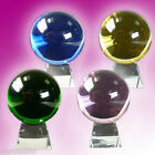 BEAUTIFUL COLOURED CRYSTAL BALLS - FOR ORNAMENTAL OR MYSTICAL PURPOSES!