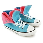 Brand New Junior Girls Converse Chuck Taylor Two Fold Hi Neon Blue Trainers