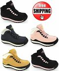 WOMENS GIRLS HIKING SAFETY WORK  BOOTS STEEL TOE CAP WATERPROOF NON SLIP 3-8