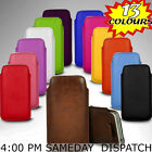NEW PU LEATHER PULL FLIP TAB CASE COVER POUCH SKIN SLEEVE FOR HTC MOBILE PHONES
