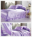 Solid New Silk-Like Duvet Cover Queen Bed Linen Quilt/Doona Cover Set Soft Plush
