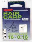 MIDDY Hair 14 -18 Barbless Hooks to Nylon Carp Coarse Fishing Hooks & Tackle