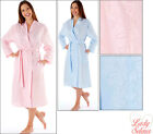 Ladies wrap womens dressing gown lightweight poly cotton 10-24 long sleeve