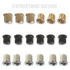 Guitar Ferrules String Retainers Set 6 For Guitar Chrome Black or Gold