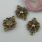 18pcs antiqued brone color Lucky flower connector EF0544