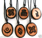 "SALE: ETHNIC INSPIRED: MENS WOMENS 21"" AFRICA ADINKRA SYMBOL PENDANT NECKLACE"
