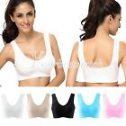 Sexy Women's Racerback Sports Tank Tops Padded Yoga Exercise Bra 5 Size Choose