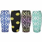Womens Stretchy Jersey Bodycon Pencil Ladies High Waisted Gypsy Tube Midi Skirt