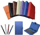 "9"" Inch PU Leather Case USB Keyboard for Android Tablet PC UK Seller"