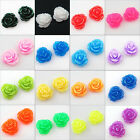 7mm 13mm Resin Flowers Cameos fit Cabochons Settings Flatback Black Mixed etc.