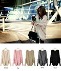 HOT Womens Knitted Cardigan Batwing Outwear Lady Casual Loose Sweater Coat Tops