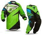 2015 Fly Racing F 16 Adult Mens MX ATV Jersey Pants Combo Green/Black ALL SIZES