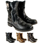 WOMENS FLY LONDON NOTA LEATHER SIDE BUCKLE PULL ON MID CALF BOOTS LADIES UK 3-8