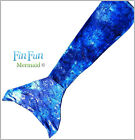 Mermaid Tail by Fin Fun – Swimmable Girls Tail – Caribbean Blue – No Monofin