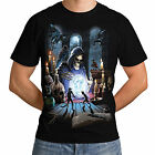 Reaper Spell New Top Men Women T-Shirt Skeleton Merlin Skull Wizard Gothic *h14