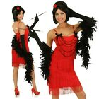 Adult Roaring Twenties Red Flapper Costume 1920s Gatsby Fancy Dress Party Outfit