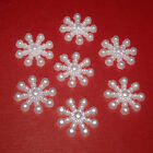 15mm White Acrylic flat back snowflakes-Cardmaking/Scrapbooking/ Frozen