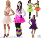 GIRLS NEON TUTU SKIRT  80'S FANCY DRESS