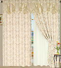 Luxury Lined Curtain Set and Valance and Sheer Window Treatment 2 Panel Tiffany
