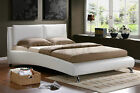 Birlea Carnaby White Faux Leather Bed Frame Ultra Modern Bed Various Sizes