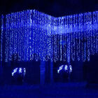 Christmas Blue 300LED water flow waterfall decoration Fairy Lights String 6*1.5M