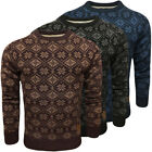 Mens Jumpers Soul Star Knitwear Frostbite Snowflake Mod Aztec Knitted S M L XL