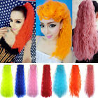 Girl Colorful Corn Stigma Long Curly Ponytail Clip in Hair Extensions AP19
