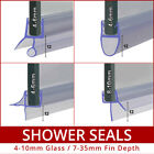 Curved or Flat Bath Shower Screen Door Seal 4mm 6mm 8mm 10mm