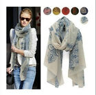 Women Fashion Long Silk Cotton Scarf Wrap Ladies Shawl Girls Large Scarves