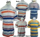 Men's RENEGADE POLO SHIRTS Striped Short Sleeved Collared Casual Medium Large
