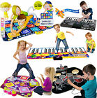 Childrens Kids Giant Electronic Musical Floor Play Mat Drum Dj Music Twister Toy