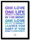 U2 - one - song lyric poster typography art print - in 4 sizes XL XXL