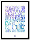 U2 - The Fly - song lyric poster typography art print - 4 sizes