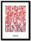 PINK FLOYD - Comfortably Numb - lyric poster ❤ typography art print - 4 sizes