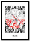 PINK FLOYD - Comfortably Numb - lyric poster ❤ typography art print - 4 sizes #2