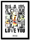 PINK FLOYD - Have A Cigar - song lyric poster ❤ typography art print - 4 sizes