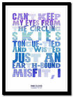 PINK FLOYD - Learning To Fly ❤ song lyric poster ❤ typography art print -4 sizes