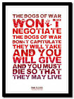 PINK FLOYD - The Dogs Of War- song lyric poster ❤ typography art print - 4 sizes