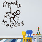 CHEEKY MONKEY Wall Sticker Art Nursery Girl Boy Bedroom Transfer Vinyl Transfer