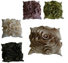 New Ruffles Cushion Cover Aubergine Black Cream Moss Latte