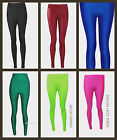 Womens Ladies Dance Wear Fancy Dress Disco Stretch Lycra Leggings Party Shiny