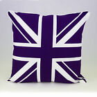 Pack of 2 Union Jack 100% Cotton Cushion Cover, Decorative Pillow case 18