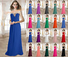 Long Bridesmaid Wedding Evening Dress Formal Party Prom Gowns Beaded Size 6-26